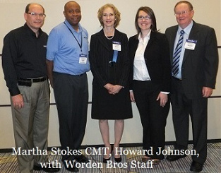 Martha Stokes CMT with Worden Bros. Staff