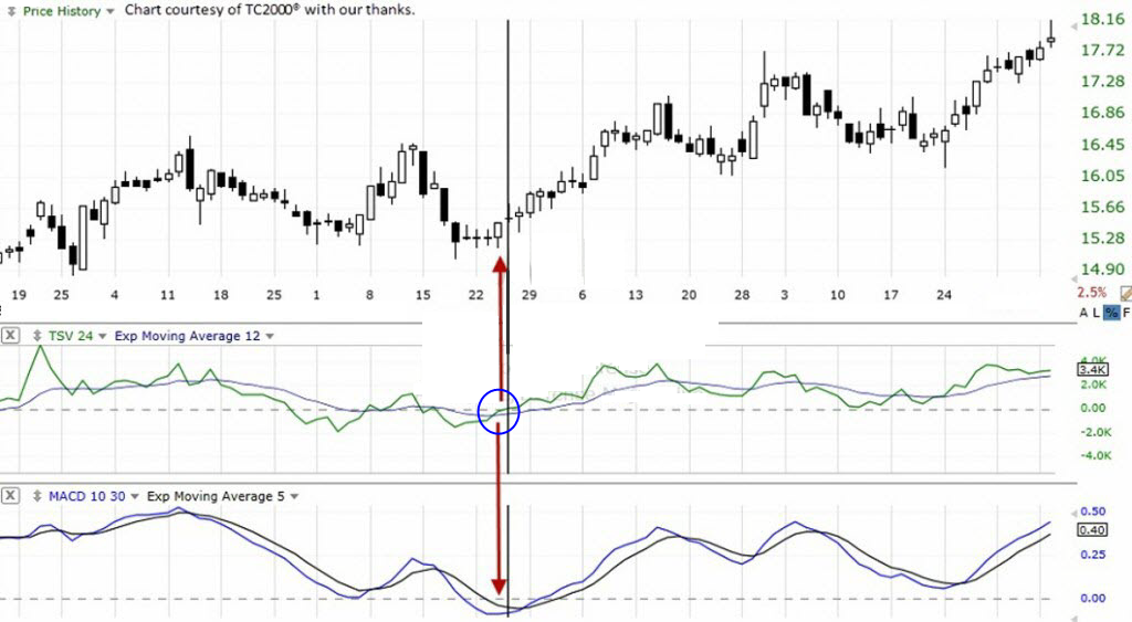 TechniTrader - A TC2000 Chart example shows Platform condition where MACD gives false signals.