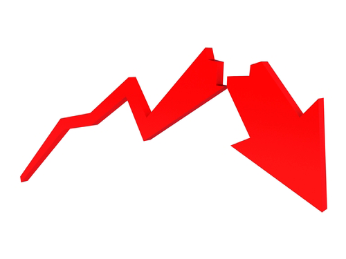 TechniTrader Stockcharts downside action red broken arrow