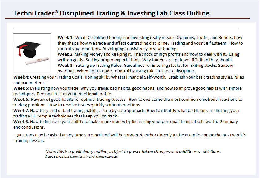 TechniTrader Online Lab Class - Disciplined Trading and Investing