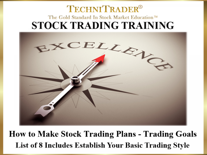 How to Make Stock Trading Plans - Trading Goals