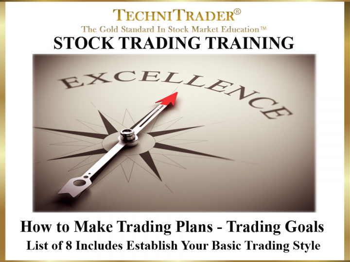 How to Make Trading Plans - Trading Goals