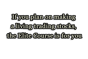 If you plan on making a living trading stocks, the Elite Course is for you